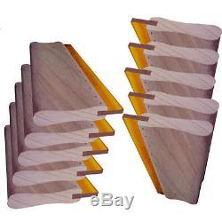 10 pcs Silk Screen Printing Squeegee 18 (46cm) Scratch Board Wooden Ink Scraper