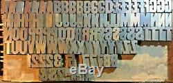 110 Antique Vintage Wood Letterpress Print Type Blocks Letters Numbers 2 1/2