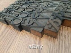 111 Antique 1 Wood Type Printing Blocks Alphabet Letterpress Letters Numbers