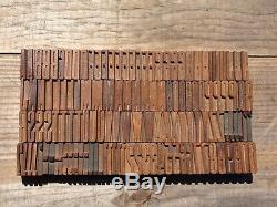 130pc Lot Antique VTG Wood LETTERPRESS Print Type Block Letters #'s Complete Set