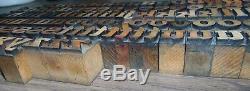 140 13/16 Wood Letterpress Printing Blocks Type Lower Case Alphabet