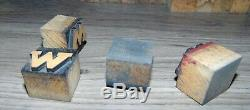 142 1 Wood Letterpress Printing Blocks Type Lower Case Alphabet