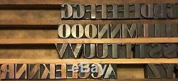 144 Wood Letterpress Print Type Block Full Upper Lower Case Letters Numbers 1