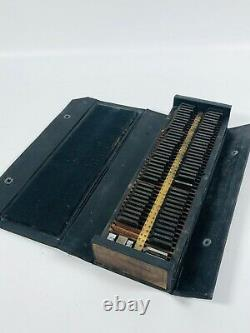 1890's 30 point 294 Lanston Monotype Machine Co Printers LetterPress Box Set