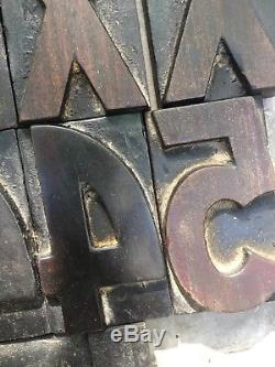 191 Pcs 3.54 Wood Letterpress Alphabet Type Print Blocks Upper & Lower Case