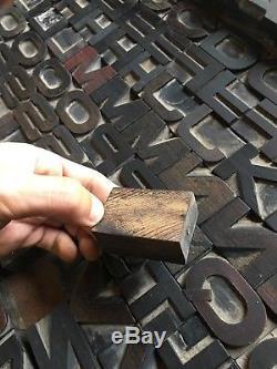1.37 114 Pcs Extended Letterpress Wood Alphabet Type Print Blocks 5