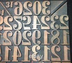 1 5/8 WOOD TYPE PRINT BLOCKS Vintage Letterpress Numbers Symbols