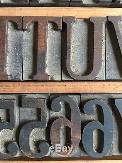203 Pcs 50 Mm Hamilton Serif Wood Letterpress Type Western Print Block 4