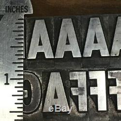 20th Century Extra Bold Cond. 60 pt Letterpress Type Metal Printing Sorts Font