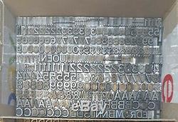 22 Pt Gothic Std Antique Metal Typeset Letterpress Letters Set