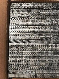 24 PT. Optima Italic Letterpress Metal Type Complete