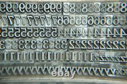 24 pt. Cheltenham Medium Letterpress Huge Complete Font Vintage Lead Type