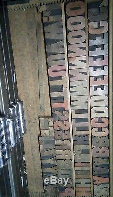 2 1/2 Hamilton Gothic Wood Type 15 line Vandercook LETTERPRESS Printing 60pcs