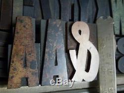 2 1/2 Hamilton Gothic Wood Type 15 line Vandercook LETTERPRESS Printing 80pcs
