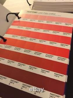 2 Pantone Books SOLID CHIPS UNCOATED And Coated Design Graphic Color Guide