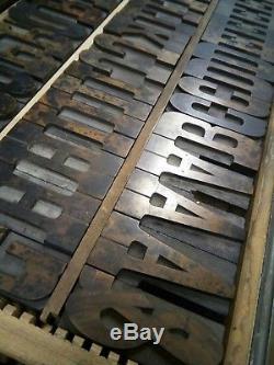 3.25 Hamilton Claradon Wood Type 15 line Vandercook LETTERPRESS Printing 60pcs