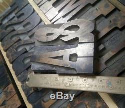 3.25 Hamilton French Clarendon Wood Type Vandercook LETTERPRESS Printing 60pcs