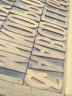 3.45 20 Line Hamilton Wood Type Vandercook LETTERPRESS Printing 50pcs