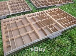 (3) Letterpress Hamilton California Job Case Type Case Shadow Box A77