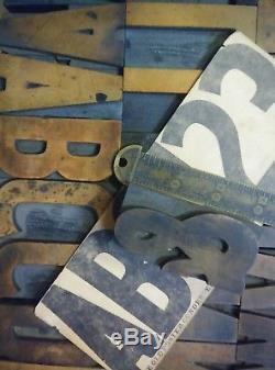 3 Old Poster Condensed Hamilton Wood Type Printing Vandercook Letterpress