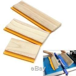 3 Pcs Silk Screen Printing Squeegee Ink Scaper Scratch Board Tools 16cm 24cm 33c