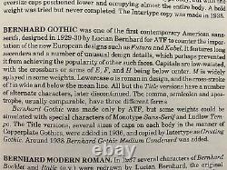 48pt Bernhard Gothic Extra Heavy Foundry Metal Type Letterpress Font Printing