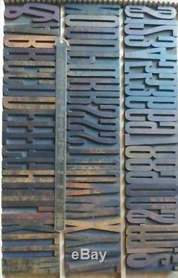 4 24 Line Hamilton Wood Type Antique Printing Vandercook Letterpress 55pcs