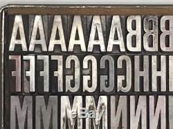 60 Point Condensed Gothic Letterpress Type