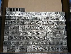 60pt Huge Font Bodoni Bold Italic Letterpress Letters Metal Typeset 14 Lbs