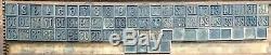 70 Vintage Wood 1 1/4 Letterpress Print Type Block Number Complete Calendar +