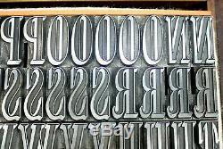 72pt Elongated Roman Shaded. Stephenson Blake Fdry. Letterpress Type