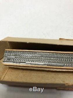 8 Point Bodoni Italic 23 Caps Letterpress Printing Press American Type Founders