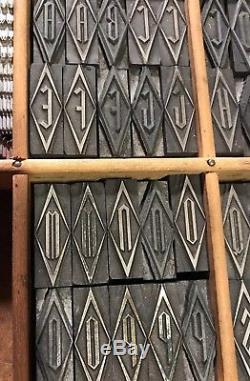 96 PT. Gothic Initial Letterpress Metal Type