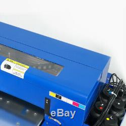 A4 UV Printer Flatbed Printer Head 6 Colors CMYK+WW Varnish 3D T-shirt Printing