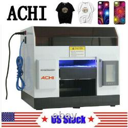 ACHI UV Printer Flatbed Printer Epson Printing Metal Phone Case Glass Sign US