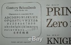 ATF NEW-OLD-STOCK 08 pt CENTURY SCHOOLBOOK in Wraps. TWO 2 Fonts