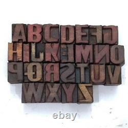 A to Z 26 Letterpress Letter Wood Type Printers Block collection(Tx-32)