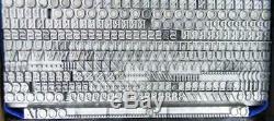 Alphabet Letterpress Print Type Import Bauer 14pt Weiss Initials MN03 5#