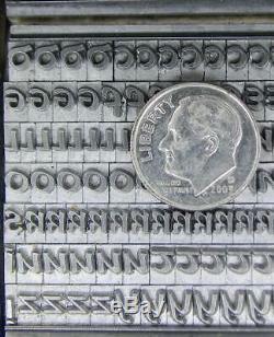 Alphabet Metal Letterpress Type 18pt Mystery Celtic Uncial CAPS MM90 3#