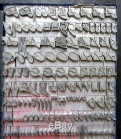 Alphabets Letterpress Print Type Import Bauer 48pt Legende MM14 13#
