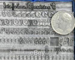 Alphabets Letterpress Print Type Import Berthold 18pt Parisian Ronde MM08 6#
