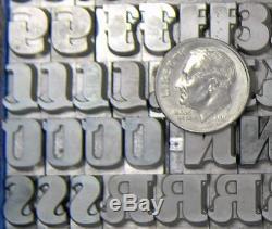Alphabets Letterpress Print Type Import Klingspor 30pt Salut ML68 11#