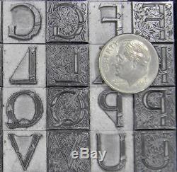 Alphabets Letterpress Print Type Monogram 36pt 2/C Massey Initials ML36 4#
