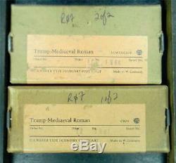 Alphabets Letterpress Type Import NOS 12pt Trump Mediaeval Roman R07 4#