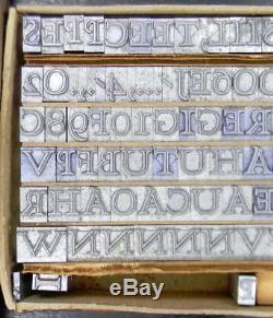 Alphabets Metal Letterpress Print Type 30pt HADRIANO Stone Cut ML24 4#