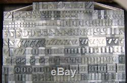 Alphabets Metal Letterpress Print Type 36pt Ultra Bodoni Condensed C23 13#