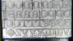 Alphabets Metal Letterpress Print Type 48pt Lombardic Capitals ML92 6#