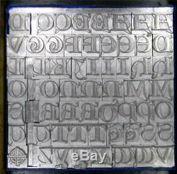 Alphabets Metal Letterpress Print Type 48pt Lombardic Capitals ML93 6#