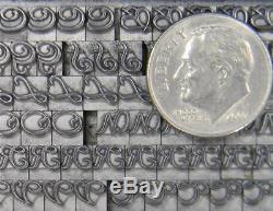 Alphabets Metal Letterpress Print Type ATF 12pt Civilite ML17 6#