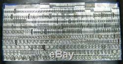 Alphabets Metal Letterpress Print Type ATF 24pt Bernhard Tango MM52 7#